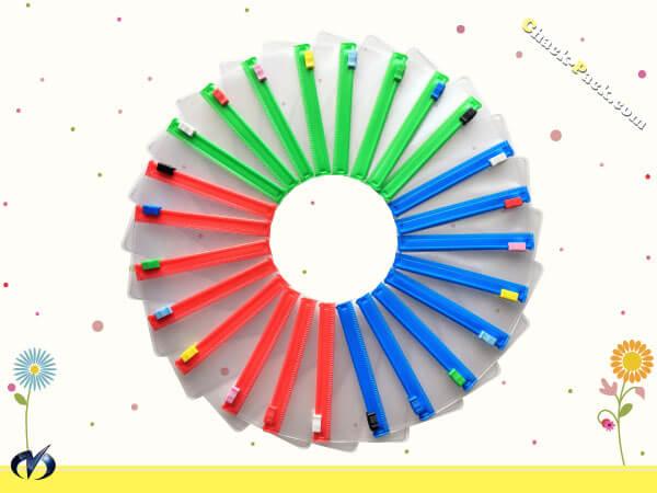 チャックカラー:緑・赤・青
