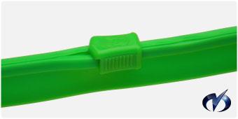 緑色チャック(ポリオレフィン)写真