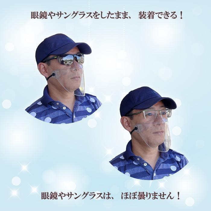 メガネ装着シールドマスク