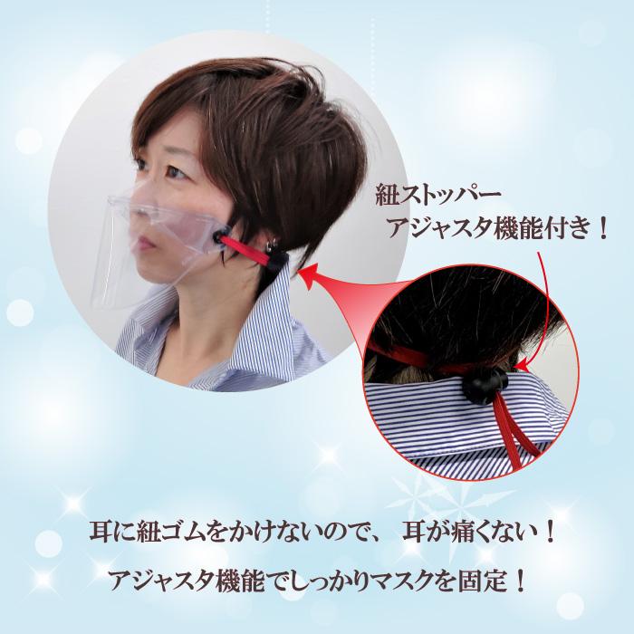 耳が痛くない透明マスク!